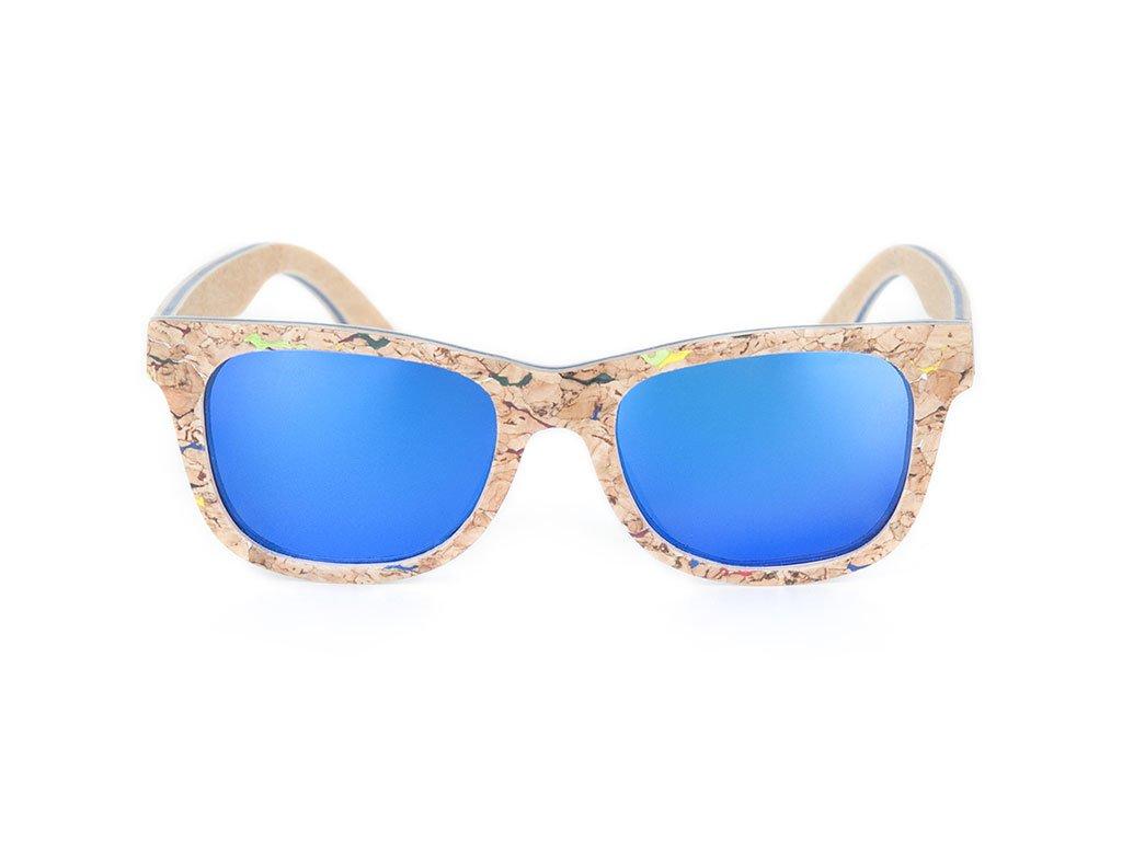 Dřevěné brýle Bobo Bird AG021 s modrými skly