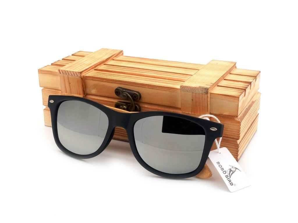 Dřevěné brýle Bobo Bird CG004 se stříbrnými skly