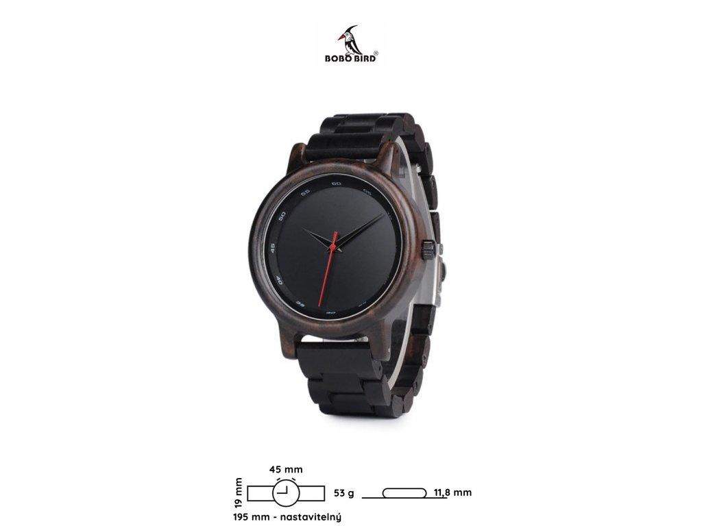 Dřevěné hodinky Bobo Bird C-P10