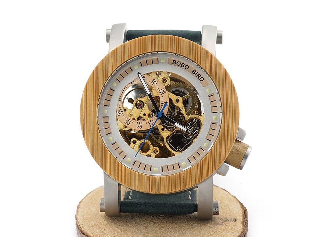 Mechanické hodinky Bobo Bird WK13 s koženým páskem