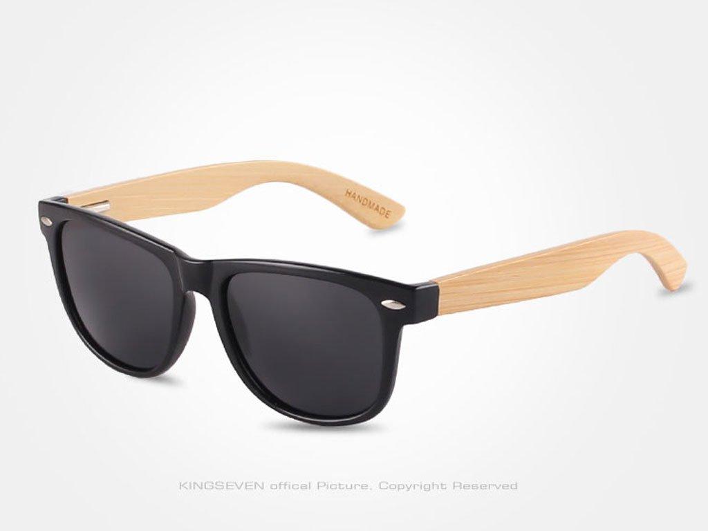 Dřevěné brýle Kingseven N5789 s šedými skly
