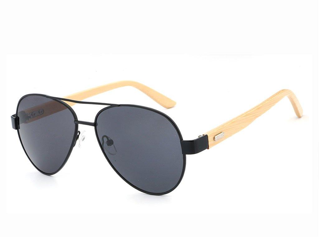 Dřevěné brýle HDCRAFTER 1510 - Aviatorky s šedými skly