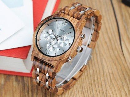 Dřevěné hodinky Bobo Bird V-P19 - světlé