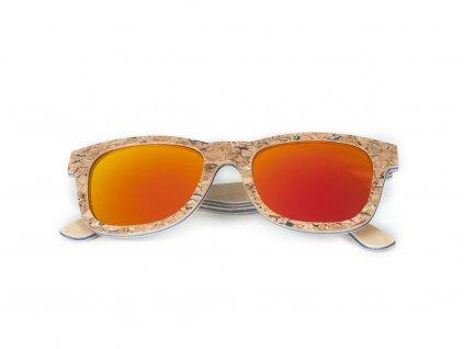 Sluneční dřevěné brýle AG021 - žlutá skla
