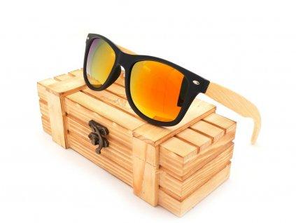 Dřevěné brýle Bobo Bird CG004 se zlatými skly