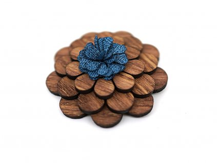Brož kulatá - Tmavý květ