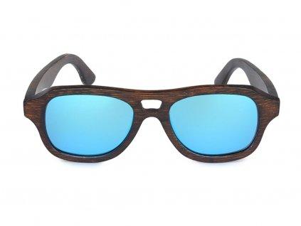 Dřevěné brýle Bobo Bird C-DG009d s modrými skly