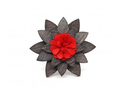 Brož - Červený květ