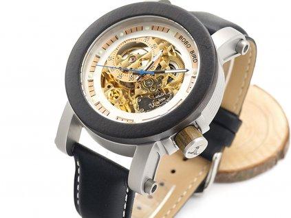 Mechanické hodinky Bobo Bird WK11 s koženým páskem